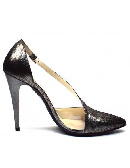 Pantofi Epica din piele naturala alb 2914