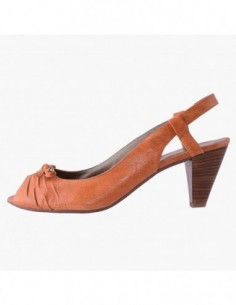 Pantofi decupati dama, din piele naturala, marca Gatta, 90002-11, orange