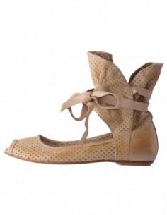 Pantofi decupati dama, din piele naturala, marca Endican, n-91-3, bej