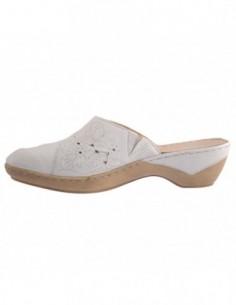 Saboti dama, piele naturala, marca Caprice, Cod 9-27351-26-K2, culoare alb satin