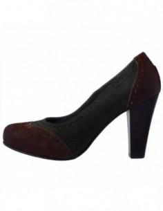 Pantofi dama, din piele naturala, marca Johnny, 9401-B3, maro cu verde