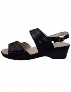 Sandale dama, din piele naturala, marca Alpina, 9G12-1-1, negru