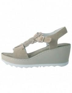 Sandale dama, piele naturala, marca Johnny, Cod A1E6805BE-3, culoare bej