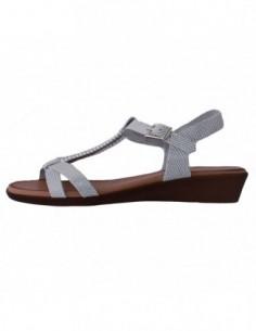 Sandale dama, piele naturala, marca Formenterra, Cod A22G3450A-K2, culoare alb satin