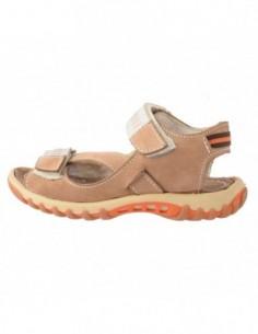Sandale copii, piele naturala, marca Hobby bimbo, Cod B2627-3, culoare bej