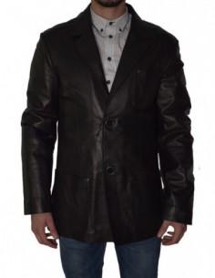 Haina barbati, piele naturala, marca Kurban, Cod BLEZER-1, culoare negru