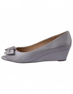 Pantofi decupati dama, din piele naturala, marca Geox, D42T4B-14, gri