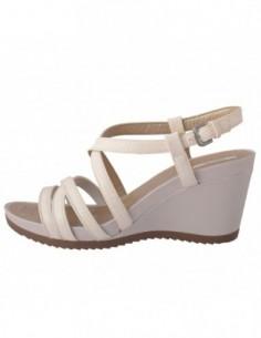 Sandale dama, piele naturala, marca Geox, Cod D72P3B-13-06, culoare alb satin