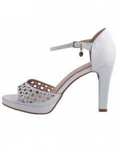 Sandale dama, piele naturala, marca Endican, Cod QB6003501-K2, culoare alb satin