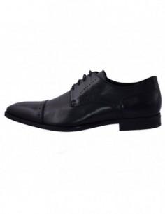 Pantofi barbati, din piele naturala, marca Geox, U32P4A-1, negru