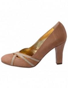 Pantofi dama, din piele naturala, marca Raxela, 145-03-88, bej