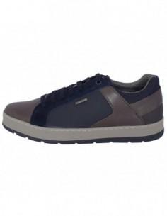 Adidasi barbati, textil si piele, marca Geox, Cod U845QD-C9AF4-M3-06, culoare gri cu bleumarin