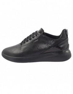 Adidasi dama, piele naturala, marca Geox, Cod D828SC-18-01-06, culoare negru