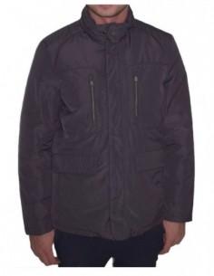 Jacheta barbati, poliamida, marca Geox, Cod M8420R-51-06, culoare gri inchis