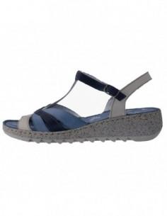 Sandale dama, piele naturala, marca Walk, Cod 9371-42-38, culoare bleumarin multicolor