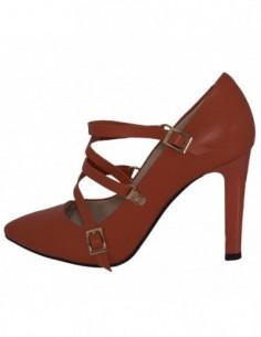 Pantofi dama, piele naturala, marca Botta, Cod 1087-18-11-05, culoare orange