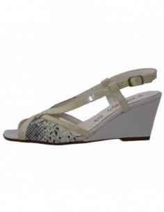 Sandale dama, din piele naturala, marca Zodiaco, 938-03-77, bej