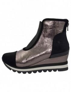 Ghete dama, textil si sintetic, marca Gioseppo, Cod 46527-48-12, culoare negru cu argintiu