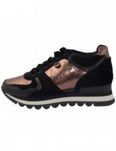 Adidasi dama, textil si sintetic, marca Gioseppo, Cod 46562-D4-12, culoare auriu cu negru
