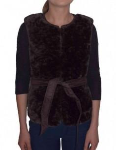 Vesta textil dama, poliamida, marca Geox, Cod W8425T-F6176-46-06, culoare caffe
