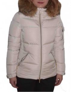 Jacheta textil dama, poliamida, marca Geox, Cod W8425P-F1477-52-06, culoare crem