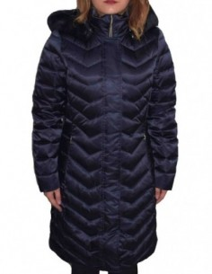Jacheta textil dama, poliamida, marca Geox, Cod W8425H-F4386-G4-06, culoare bleumarin metalic