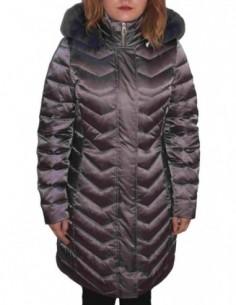 Jacheta textil dama, poliamida, marca Geox, Cod W8425H-F1480-E6-06, culoare antracit