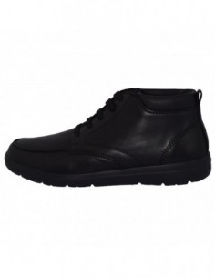 Ghete barbati, piele naturala, marca Geox, Cod U843QA-C9999-01-06, culoare negru