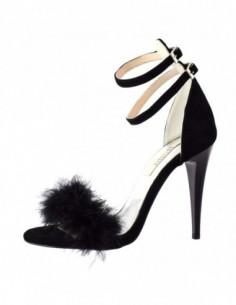 Sandale dama, piele naturala, marca Botta, Cod 963-01P-05, culoare negru