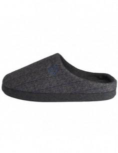 Papuci de casa barbati, textil, marca s.Oliver, Cod 5-17302-21-87-15, culoare negru cu gri