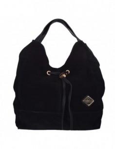 Genti dama, textil si piele, marca Carmela, Cod 86032-18-01-44, culoare negru