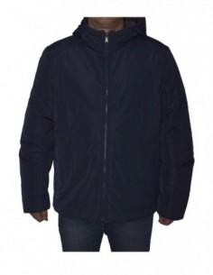 Jacheta textil  barbati cu doua fete, poliamida, marca Geox, Cod M8429E-F4443-42-06, culoare bleumarin cu gri