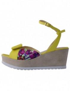 Sandale dama, piele naturala, marca Botta, Cod 967-08-05, culoare galben