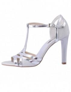 Sandale dama, piele naturala, marca Botta, Cod 980-18-05, culoare argintiu