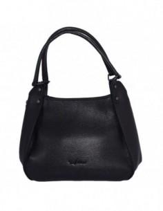Geanta dama, din piele naturala, marca Tony Bellucci, 0-265-01-64, negru