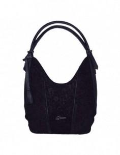 Geanta dama, din piele naturala, marca Desisan, 7139-01-26, negru