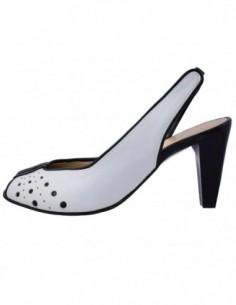 Pantofi dama, piele naturala, marca Carla Sellini, Cod 99626-13-01-120, culoare alb cu negru