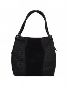 Geanta dama, din piele naturala, marca Desisan, 2945-01-26, negru