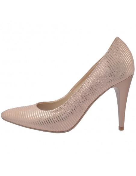 Pantofi dama, din piele naturala, marca Botta, 428-18-12-05, auriu