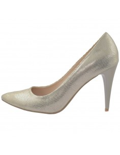 Pantofi dama, din piele naturala, marca Botta, 428-18-12D-05, auriu