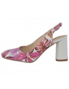 Pantofi dama, din piele naturala, marca Botta, 1034-19-57-05, alb/fucsia