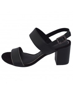 Sandale dama, din piele naturala, marca Marco Tozzi, 2-28335-22-01-08, negru