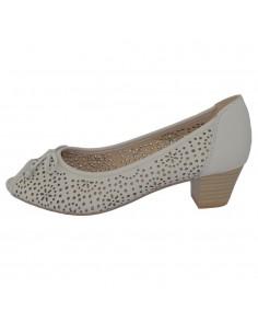 Pantofi dama, din piele naturala, marca Caprice, 9-29200-22-J9-03, alb murdar
