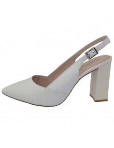 Pantofi dama, din piele naturala, marca Caprice, 9-29604-22-19-13-03, alb