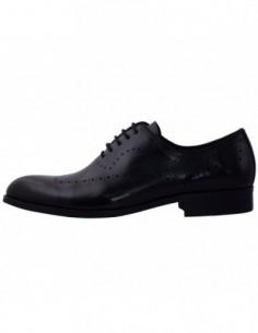 Pantofi eleganti barbati, piele naturala, marca Alberto Clarinii, Cod A053-01-113, culoare negru