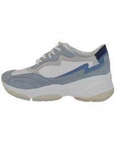 Adidasi dama, din piele naturala, marca Geox, D92BPB-C1ZF3-86-06, alb/bleu