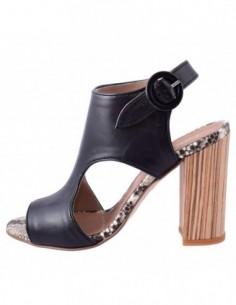 Sandale dama, piele naturala, marca Carmens, Cod A39020-01-35, culoare negru