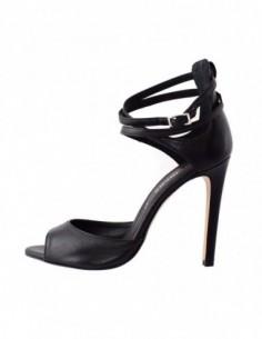 Sandale dama, piele naturala, marca Carmens, Cod A39065-01-35, culoare negru